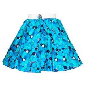 Childs Blue Buttons Print Circle Skirt