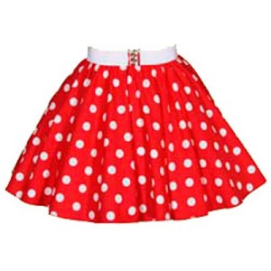 Childs Red / White PD Circle Skirt