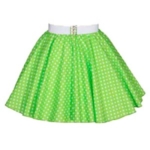 Sale – 17″ Lime Green/White PD Circle Skirt (XS) Free n/chief