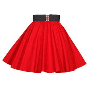 Childs Plain Red Circle Skirt