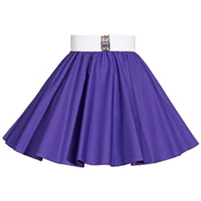 Childs Plain Purple  Circle Skirt