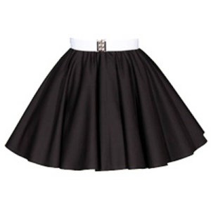 Childs Plain Black  Circle Skirt