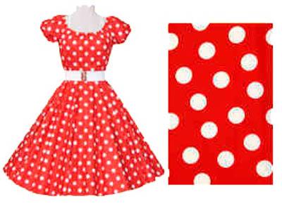 1950's Rock n Roll Red / White Polkadot Dress