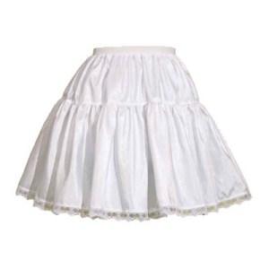Childs 2 Tier Taffeta Petticoat in White or Black