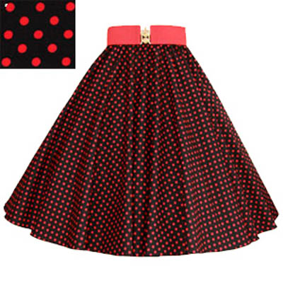 Sale – 23″(Small) Black/ Red 7MM PD Circle Skirt