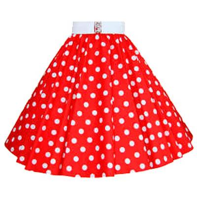 3fa1fc97e73d27 Red / White Polkadot Circle Skirt Ideal Dancewear Outfit