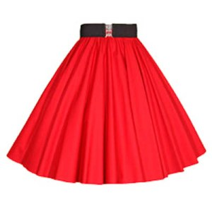 Plain Red Circle Skirt