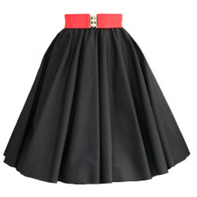 Plain Black Circle Skirt