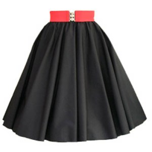 Sale – 21″ (Small) Plain Black Circle Skirt