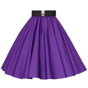 Plain Purple Circle Skirt