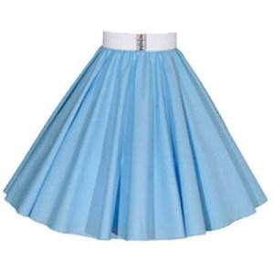 Plain Light Blue Circle Skirt