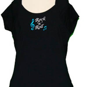 Ladies Rock n Roll Embroidered T-Shirt From