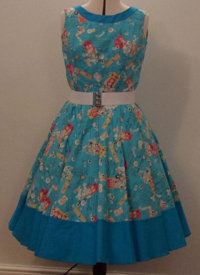 1950's Rock n Roll Contrast Dress
