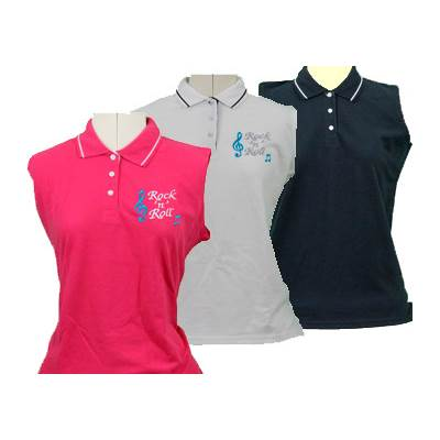 Ladies Rock n Roll Embroidered Polo Shirts