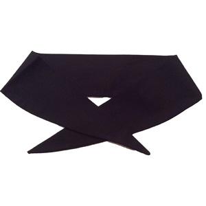 Ladies Plain Black Neckerchief