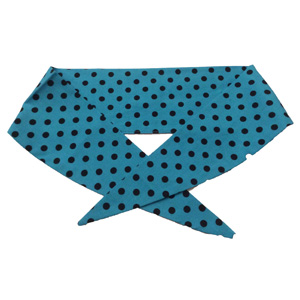 Ladies Turq / Sml Black PD Neckerchief