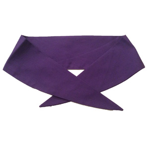 Ladies Plain Purple Neckerchief