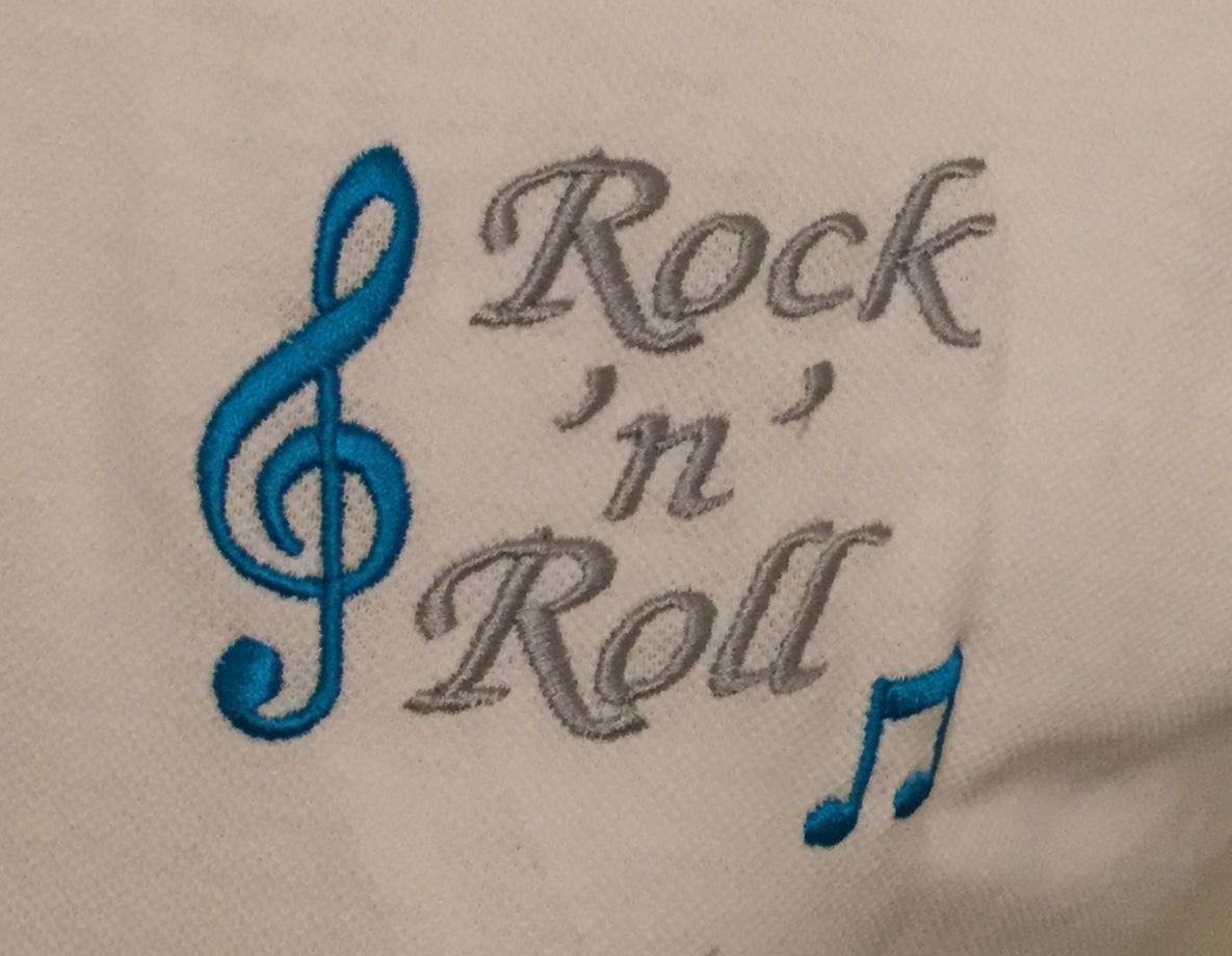 Ready Embroidered White / Black Sleeveless Polo Shirt (Size 14)