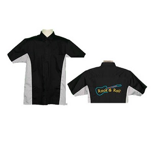 Ready Embroidered 185 Black / Grey Shirt (Size Small)
