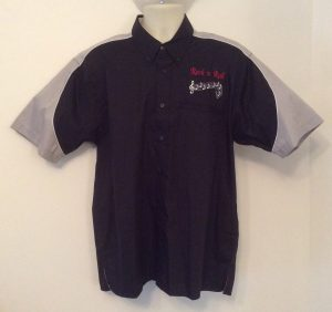 Ready Embroidered 186 Black / Grey Shirt (Size Large)