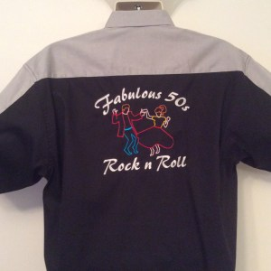 Ready Embroidered 175 Black / Gray Shirt(Size Large)