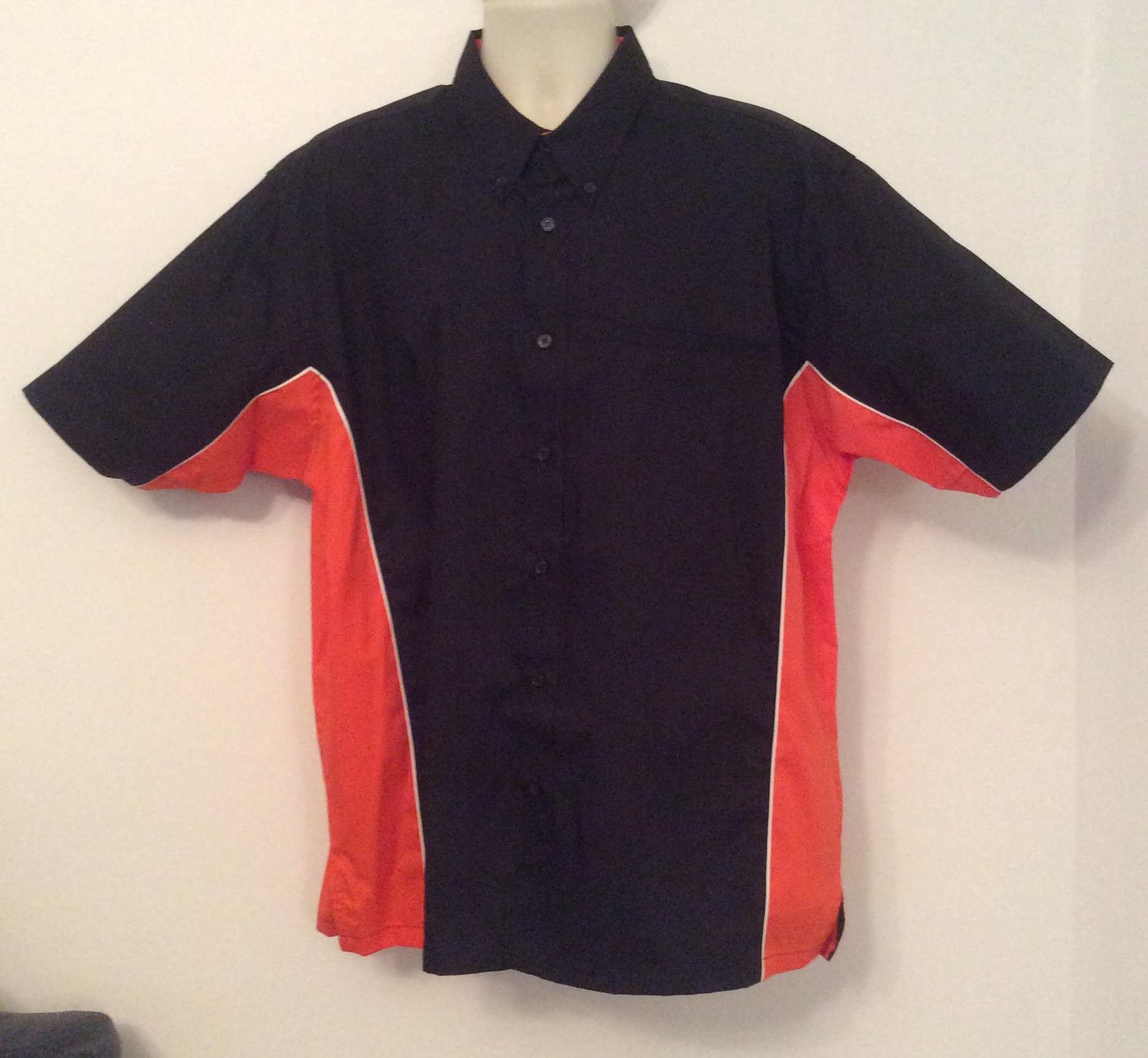 Ready Embroidered 185 Black / Orange Shirt (Size XLarge)