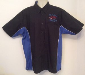 Ready Embroidered 185 Black / Blue Shirt (Size XLarge)