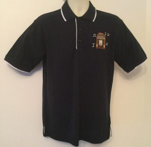 Ready Embroidered Mens Navy/ White Polo Shirt (Size Medium)