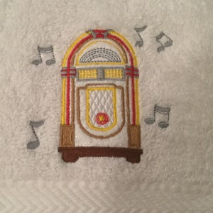 Small Dance Towel (White)