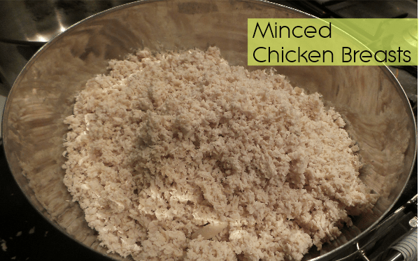 minced chicken for dogs