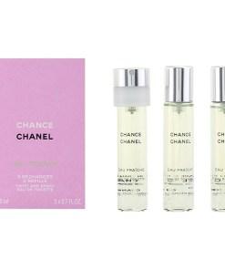 Conjunto de Perfume Mulher Chance Eau Fraiche Chanel (3 pcs)