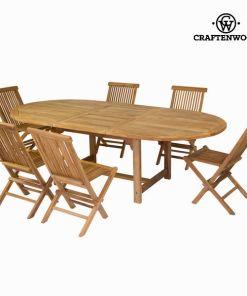 Mesa extensível com 6 cadeiras by Craftenwood