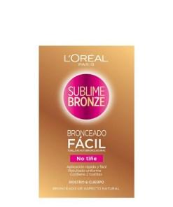 Toalhinhas Autobronzeadoras Sublime Bronze L'Oreal Make Up (2 uds)