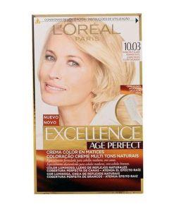 Tinta Permanente Antienvelhecimento Excellence Age Perfect L'Oreal Expert Professionnel Louro claro dourado