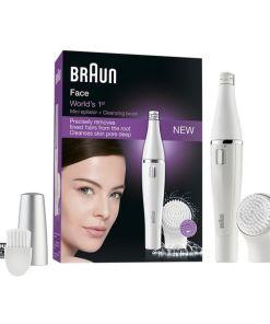 Aparelho de Limpeza-Depilação Facial Elétrico Braun Face 810