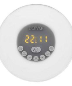 Rádio Despertador Denver Electronics CRLB-400 FM Bluetooth LED Branco