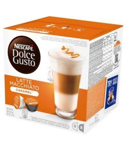 Cápsulas de café Nescafé Dolce Gusto 24191 Latte Macchiato (16 uds) Caramelo