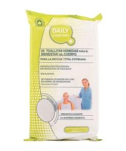 Toalhetes Húmidos Higiene Íntima Daily Comfort (20 uds)