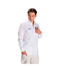 Camisa de Manga Comprida Homem Sparco Branco (Tamanho S)