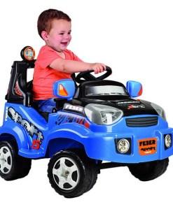 Carro elétrico para crianças Feber Azul
