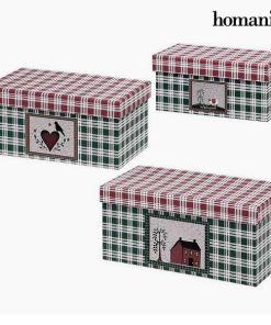 Caixa Decorativa Homania 7772 (3 uds) Papelão