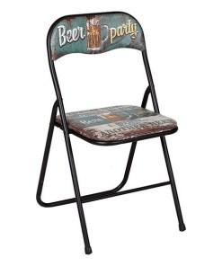 Cadeira de Campismo Acolchoada Vintage 116046