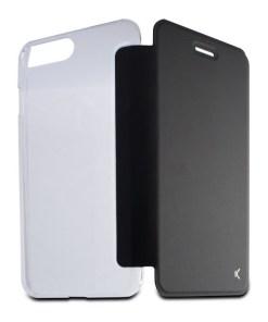 Capa tipo Livro para o Telemóvel Iphone 8 Plus KSIX Crystal Preto