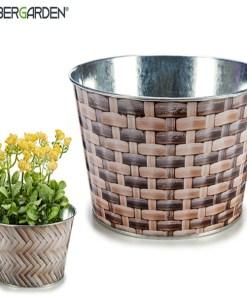Plantador Metal (20,6 x 9,6 x 20,6 cm) Redondo
