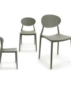 Cadeira de Sala de Jantar Cinzento Plástico (41 x 81 x 49 cm)