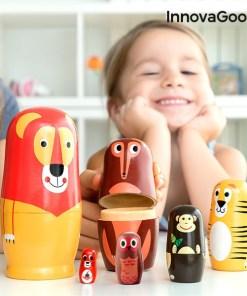 Matriosca de Madeira com Figuras de Animais Funimals InnovaGoods 11 Peças