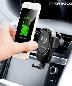Suporte de telemóvel com carregador sem fios para automóveis Wolder InnovaGoods