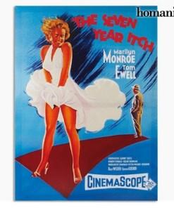 Foto de Marilyn Monroe The Seven Year Itch em tela de tecido 50 x 70