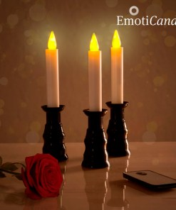 Velas LED Romantic Ambiance EmotiCandle (conjunto de 3)