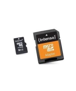 Cartão de Memória Micro SD com Adaptador INTENSO 3413480 32 GB Classe 10